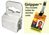 Gripper for holding cards with no holes