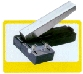 "Stapler style with adjustable guide and waste receptacle. Slot size 1/8"" x 5/8"" (3mm x 16mm) Type E"
