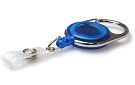 Blue Translucent Carabiner ID  Badge Reels with Strap Clip (Pack of 50) YO YO
