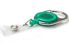 Green Translucent Carabiner ID  Badge Reels with Strap Clip (Pack of 50) YO YO